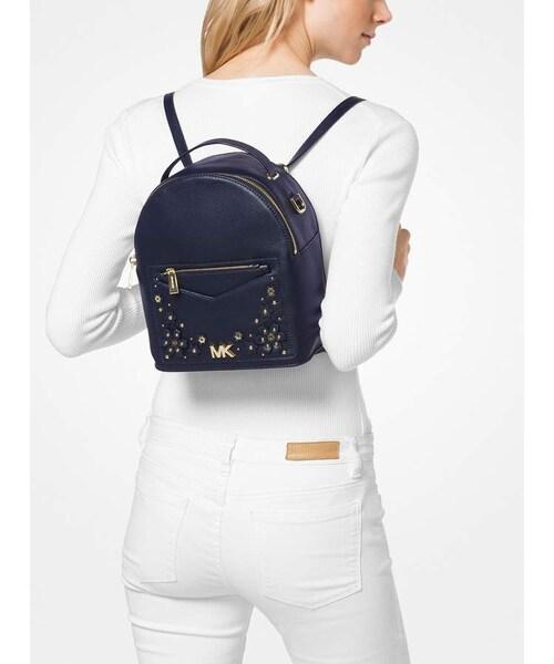 ce15e901a90e MICHAEL KORS,Michael Michael Kors Jessa Small Floral Embellished Pebbled  Leather Convertible Backpack - WEAR