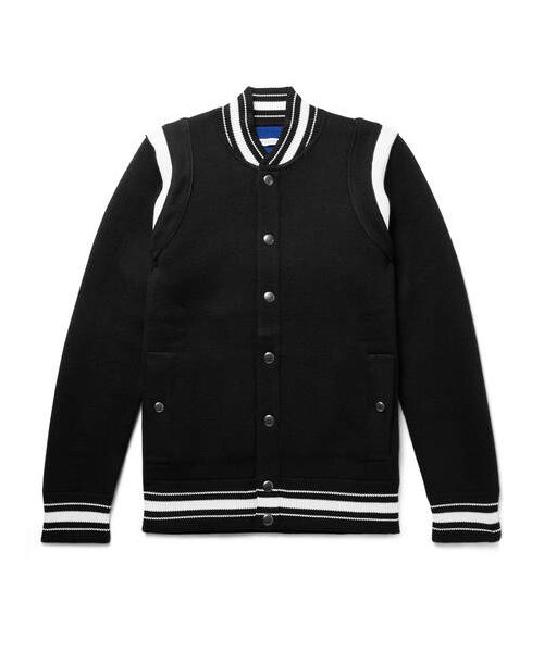 Knit Logo Embroidered Jacket Wear Givenchy Wool Waffle givenchy Slim Bomber Virgin Fit xZwRfpqF