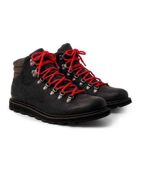7ed6253a951 Sorel,Sorel Madson Hiker Waterproof Leather And Rubber-Trimmed ...