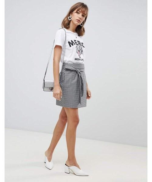 0451d26ed9 Vero Moda,Vero Moda Check Wrap Front Belted Mini Skirt - WEAR