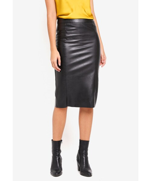 460ef9ff2 River Island,Faux Leather Pencil Skirt - WEAR