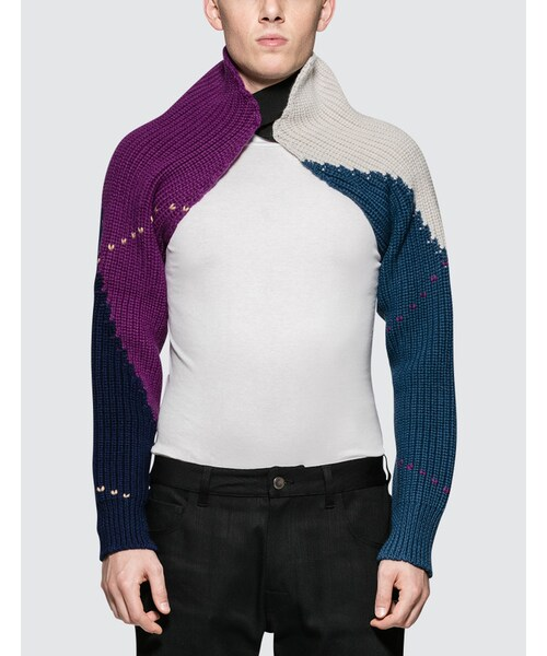 e8f1c3de79541f Raf Simons,Knitted Sleeves With Elastic - WEAR