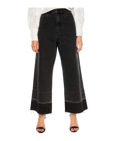 3e14cd7d58 Bardot,Bardot High Waist Release Hem Wide Leg Jeans - WEAR