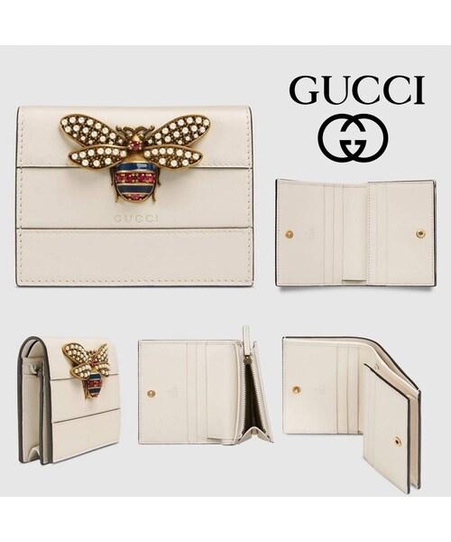 quality design 327e4 545bd GUCCI(グッチ)の「【GUCCI】クイーン マーガレットBee*レザー ...