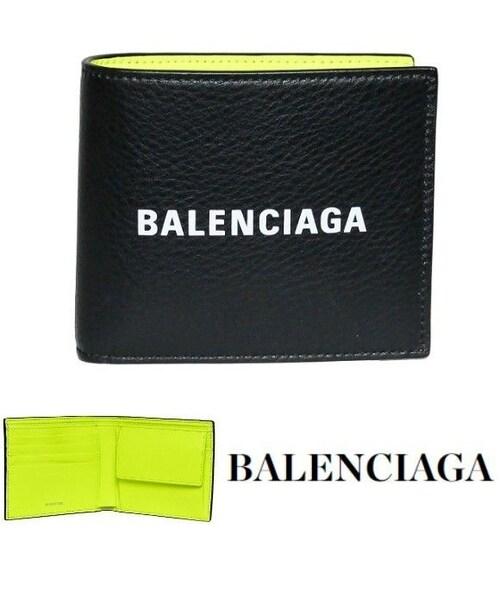 finest selection bfdcf 8950b BALENCIAGA,バレンシアガ二つ折り財布【小銭入れあり】ブラック ...
