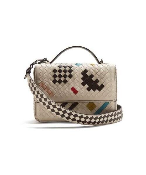 Bottega Veneta,Bottega Veneta - Alumna Intrecciato Shoulder Bag - Womens -  White Multi d3749474dc