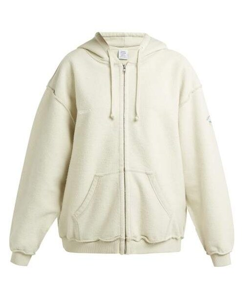 7e9db7a1c38 ... Vetements Vetements Inside Out Zip Up Hoodie Womens Ivory WEAR Source · Plus  Size Women Hooded Inside Out Cotton Jacket Plusylicious