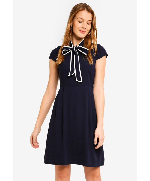 abbc1adcc9143 J.Crew,365 Crepe Tie-Neck Dress - WEAR