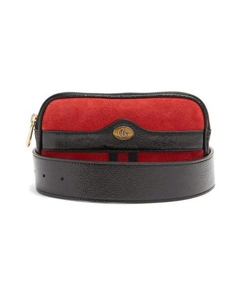 5b62b5b7252adf Gucci,Gucci - Ophidia Small Suede Belt Bag - Womens - Red - WEAR