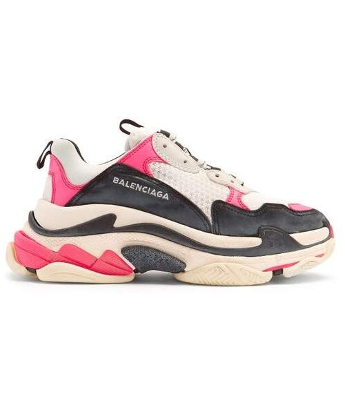 「Balenciaga , Triple S Low Top Trainers , Womens , Pink White」