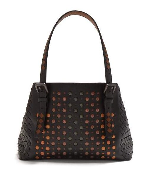 Bottega Veneta(ボッテガヴェネタ)の「Bottega Veneta - Cesta Bubble Embellished Leather  Tote - Womens - Black Multi(トートバッグ)」 - WEAR 9af67e27cb