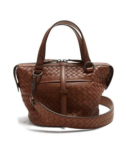 Bottega Veneta(ボッテガヴェネタ)の「Bottega Veneta - Tambura Small Intrecciato Leather  Bag - Womens - Tan(トートバッグ)」 - WEAR e6a2a87be0