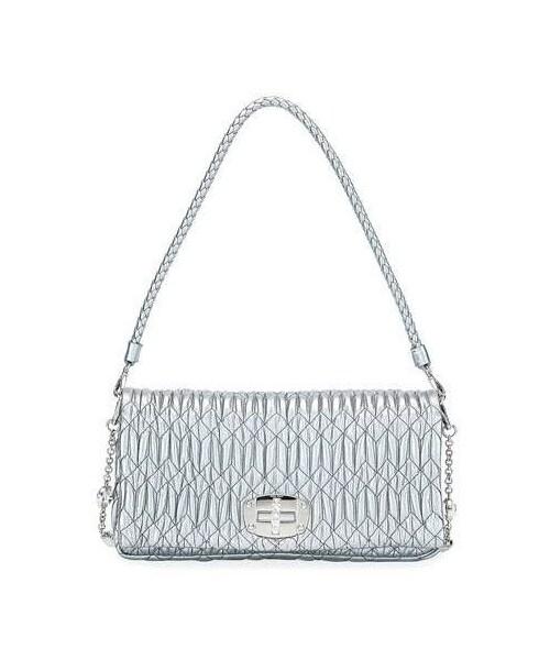 5190ddcd2e4 Miu Miu,Miu Miu Metallic Matelasse Leather Medium Shoulder Bag w  Crystal  Lock - WEAR