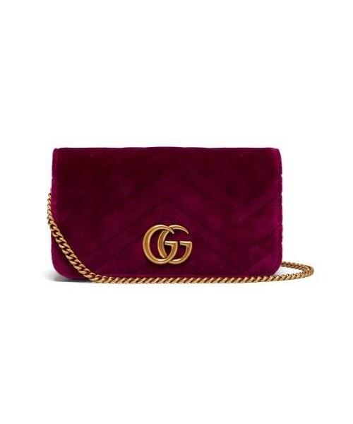 bd474b1eb440 Gucci,Gucci - Marmont Gg Velvet Mini Cross Body Bag - Womens - Purple