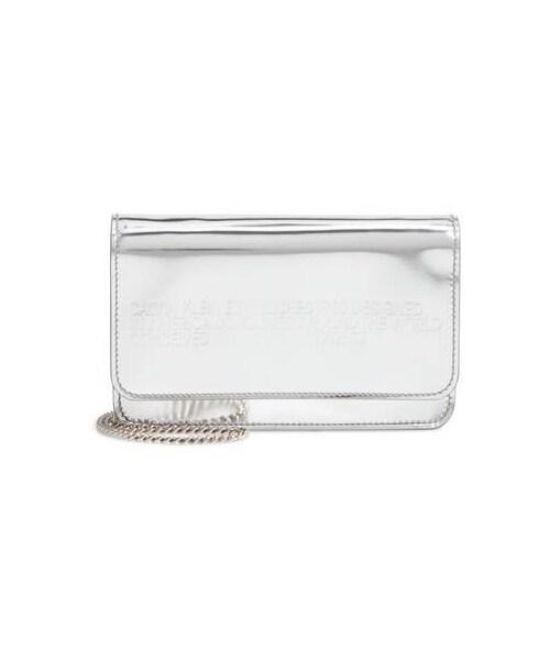 3bd79ae597b Calvin Klein,CALVIN KLEIN 205W39NYC Mini Metallic Leather Crossbody Bag