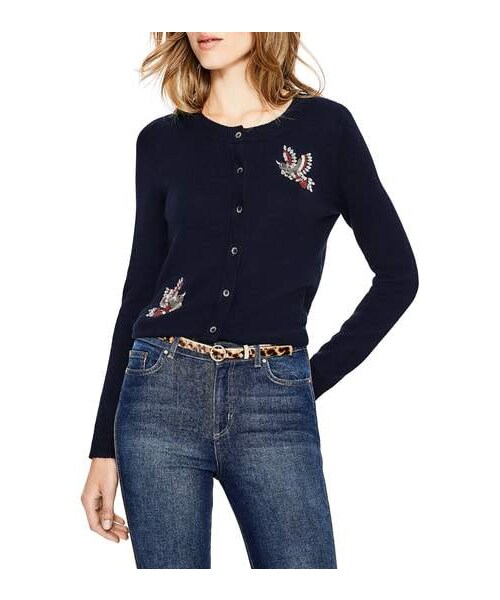 Boden Boden Nell Beaded Bird Embellished Cardigan Wear
