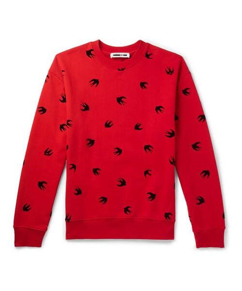 Jersey Sweatshirt Cotton Alexander Loopback Mcqueen Flocked Mcq mcq YxZ1qP