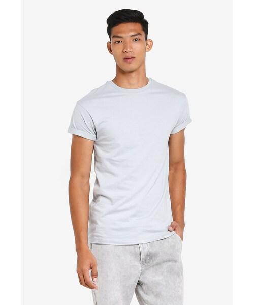 8ce0754ee Topman,Dark Blue Muscle Fit Roller T-Shirt - WEAR