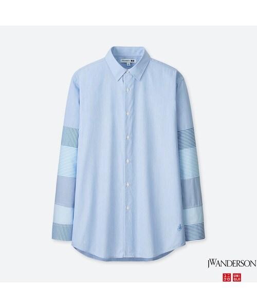 ユニクロのオフィスカジュアルアイテム2:エクストラファインコットンブロードシャツ(長袖)