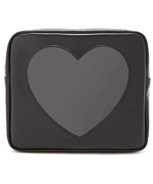 159db1b994d 「Forever 21 Faux Leather Heart-Insert Makeup Bag」