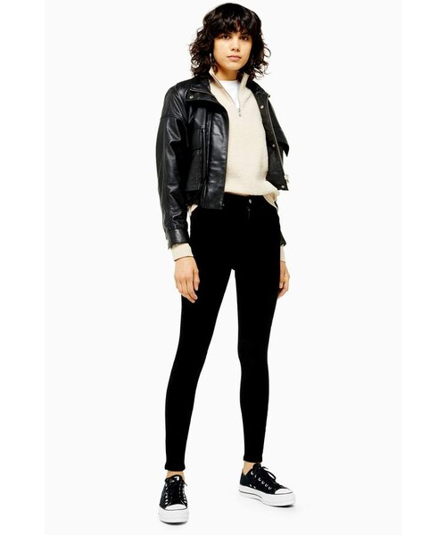 exclusive range new appearance lace up in Topshop(トップショップ)の「Topshop Black Corduroy Jamie Jeans ...