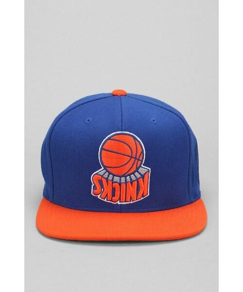 1ed7e1024c6 「Hall Of Fame X Mitchell   Ness Knicks Upside-Down Snapback Hat」