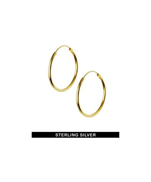 7bc6be0da Asos(エイソス)の「ASOS Sterling Silver Gold Plated 30mm Hoop ...