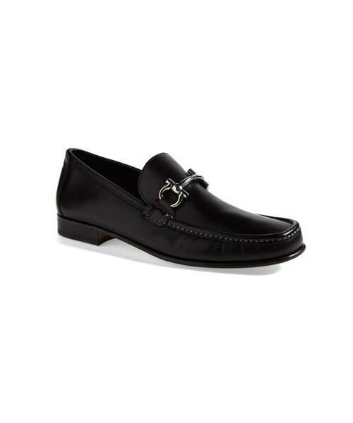 Salvatore Ferragamo Gancini Men's Brown Leather Loafers 10 M Men's Shoes Dress Shoes