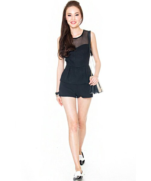 83e34714ff0 MDS(エムディーエス)の「Mad with Mesh Romper in Black(その他)」 - WEAR