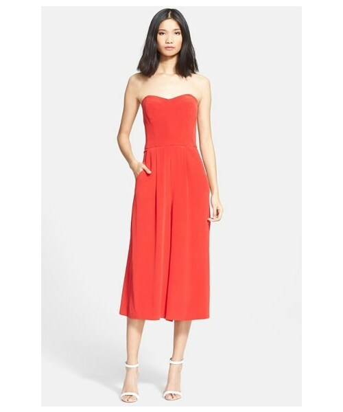cbcd1045e59f Milly(ミリー)の「Milly Strapless Silk Culotte Jumpsuit(パンツ ...