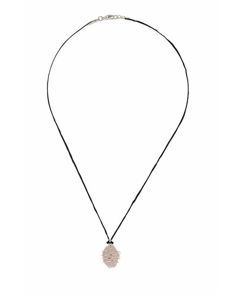 topshop トップショップ の black thread necklace with a pastel