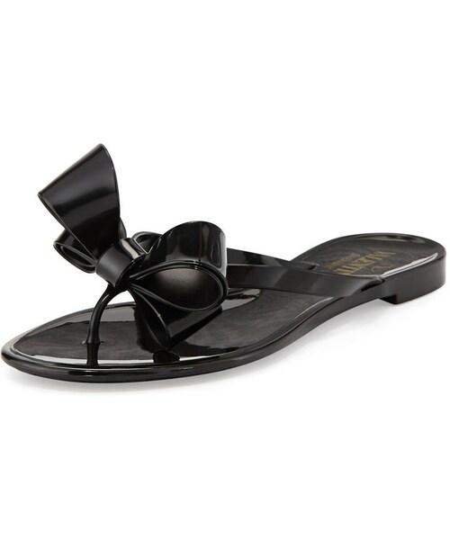51a8f1652b2dc Valentino(ヴァレンティノ)の「Valentino Couture Bow Jelly Flat ...