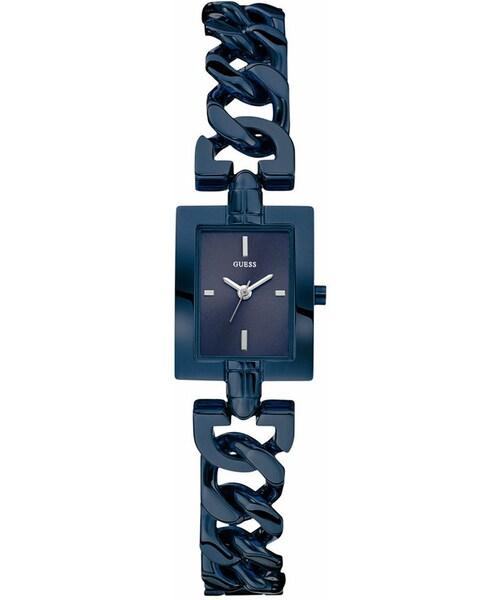 guess ゲス の guess women s blue tone chain bracelet watch
