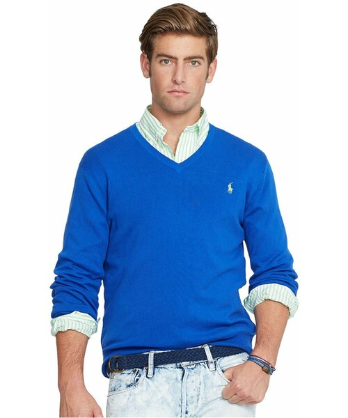 0b0d2e62ce2 Polo Ralph Lauren,Polo Ralph Lauren Pima V-Neck Sweater - WEAR