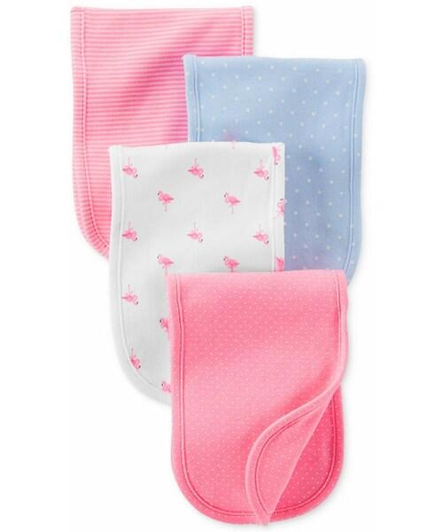 Carter S Carter S Baby Girls 4 Pack Burp Cloths Wear