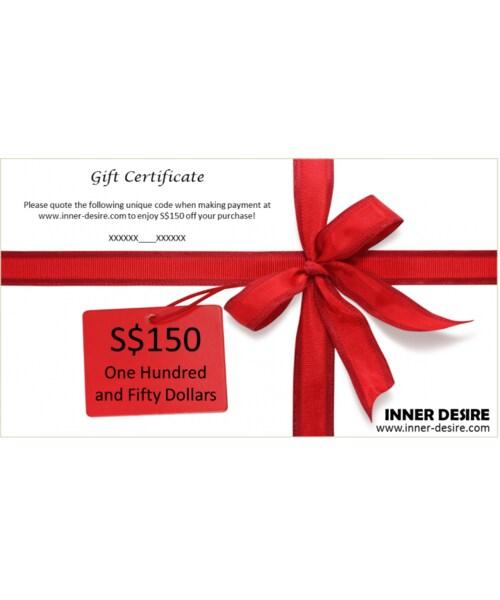 inner desire インナーデザイアー の s 150 gift certificate
