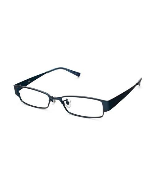 jins ジンズ の シート状に形成したシャープなメタルフレームのメガネ