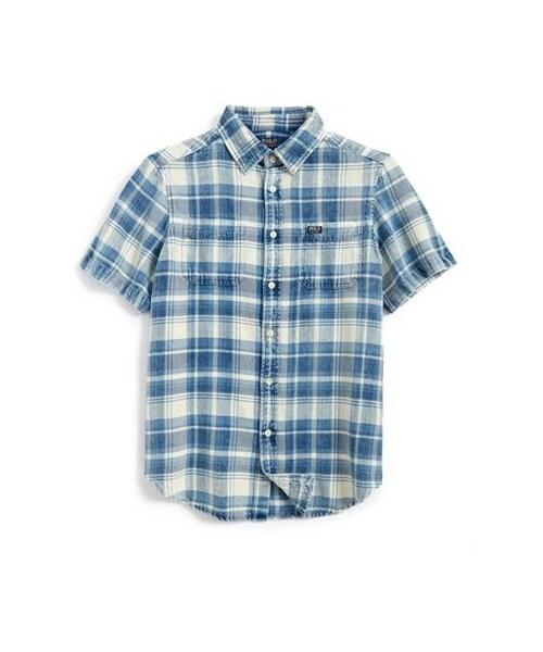 aeae062ce Ralph Lauren,Ralph Lauren Plaid Cotton Twill Shirt (Big Boys) - WEAR