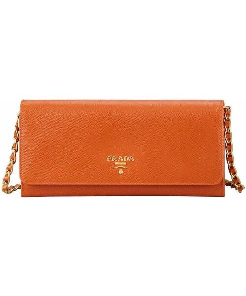 0734e844c754 ... promo code for prada saffiano wallet on a chain orange papaya d8935  940fe