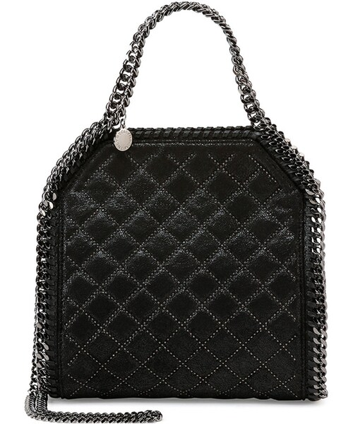 7679240cbf Stella McCartney,Stella McCartney Falabella Mini Quilted Studs Tote Bag,  Black - WEAR