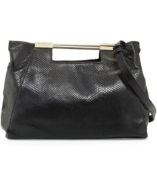 2d28793dc011 Halston(-)の「Halston Heritage Lizard-Embossed Leather Satchel Bag ...
