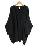 O project KNITTED CARDIGAN BLACK(カーディガン)