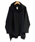 O project 3/4 SLEEVE WIDE HOODED BLACK(パーカー)