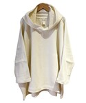 O project 3/4 SLEEVE WIDE HOODED OFF WHITE(パーカー)