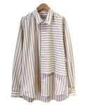 FFIXXED STUDIOS COVER SHIRT BEIGE WHITE STRIPE(シャツ・ブラウス)
