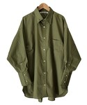 tim. regular collar shirt KHAKI(シャツ・ブラウス)
