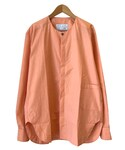 HOUSE OF THE VERY ISLAND'S | house of the very island's COLLARLESS SHIRT ORANGE(シャツ・ブラウス)
