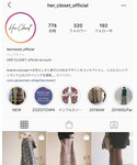 IG@her_closet_official | Instagram(その他)