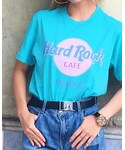 Hard Rock Cafe | Colored Logo Tee Tahiti Blue(Tシャツ・カットソー)