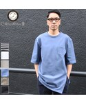 Audience | BSQボーダー度詰天竺 ロングビッグTee『日本製』 Upscape Audience [AUD1952](Tシャツ・カットソー)